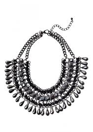 black necklace stone images Vintage inspired black stone statement necklace happiness boutique jpg