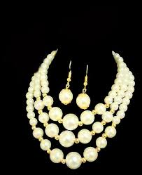 bead necklace jewellery images African pearl beads necklace earring jeglow shopping jpg