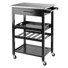 kitchen island cart with stainless steel top small rolling kitchen island cart stainless steel top movable ideas