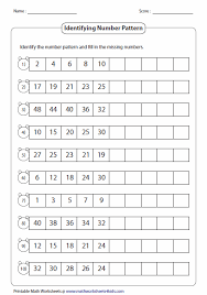 pattern and numbers standard number pattern tutoring pinterest number patterns