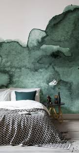 dream on with these 11 watercolour wallpapers murals wallpaper green abstract watercolour wall mural