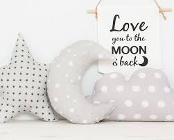 Stars Nursery Decor by Grey Crescent Moon Baby Cushion Emodi