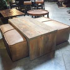 Ottoman Leather Coffee Table Yep It S A Coffee Table Leather Ottoman And It S Amazing Www