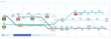 England Train Map by Dlr Transport For London