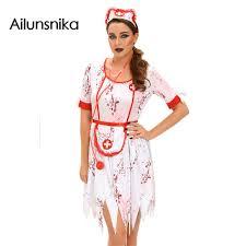 Nurse Halloween Costume Ailunsnika Women Naughty Nurse Costumes 2017 Nursing Uniforms