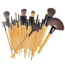 2016 best selling professional 24 makeup brush set tools make up toiletry kit wool brand case