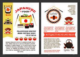 affiches cuisine une nourriture japonaise ou des modèles d affiches de reataurant de