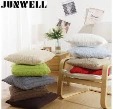 canapé de bureau 100 coton tricoté coussin revisible torsion coussin canapé bureau