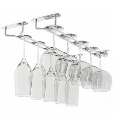 shop amazon com wine racks rack and hook stemware glass rack wine glass hanger under cabinet storage for bar or kitchen