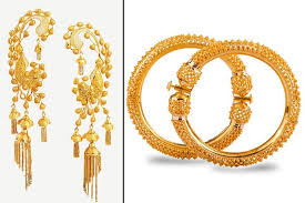 gold kaan earrings 9 traditional bengali jewellery collection with names