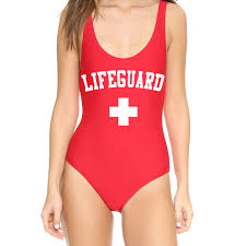 softball player halloween costume one piece red lifeguard suit monokini swimsuit women teen swimwear