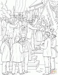 young abraham lincoln on a slave market picture coloring page