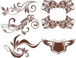 heraldic ornaments vector corel draw tutorial and free vectors