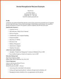 Dental Hygiene Resume Samples by Front Desk Resume Moa Format