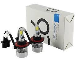 c6 led headlights kit h13 hi lo cree cob 72w 7600lm set xenon