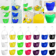 hanging ls for kitchen new 3 tier shower bath rack plastic hanging over basket tidy