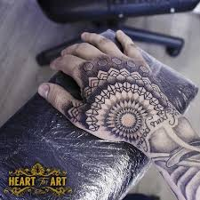 dotwork hand tattoo portfolio heart for art tattoo artists