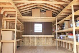 space and layout mini barns storage sheds garages the shelving unit