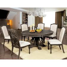 60 inch round dining room table furniture of america leland rustic 60 inch round dining table free