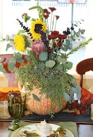 thanksgiving day flowers decorated mantel november 2016