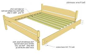 king size bed frame plans bed plans diy blueprints homemade king