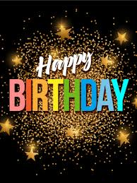 sparkling u0026 exciting happy birthday card birthday cards for