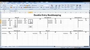 Farm Accounting Spreadsheet Double Entry Bookkeeping Template Spreadsheet And Double Entry