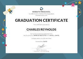 preschool graduation certificate free preschool graduation certificate template in psd ms word