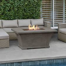Rectangle Fire Pit Table Tabletop Design Fire Pits Outdoor Heating The Home Depot