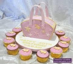 radley inspired handbag birthday cake and matching cupcakes