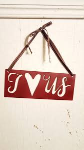 i love us sign wedding gift rustic sign rustic home decor