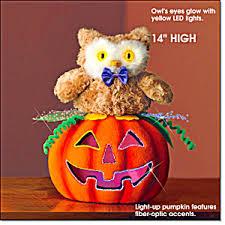 light up pumpkins for halloween light up owl pumpkin halloween at hnhco enterprises llc