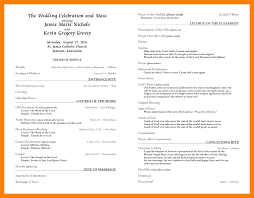 catholic wedding program templates with mass wonderful mass program template contemporary exle resume