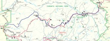 Yosemite Valley Map Re Older Roads Superimposed On Newer Roads