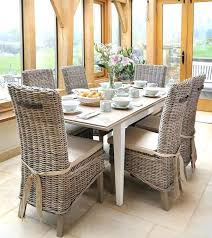 lovely gray rattan dining chair glamorous rattan dining room table