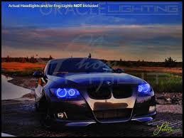 oracle 07 13 bmw 3 series 2dr led colorshift halo rings headlights
