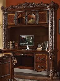 vendome 2 piece credenza and hutch bookcase in cherry finish by