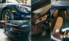 porsche 911 turbo s interior 991 2 turbo s in night blue metallic and expresso interior porsche