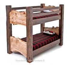 Log Bunk Bed Plans Fort Driftwood Rustic Bunk Bed Rc Willey Throughout