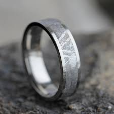 meteorite mens wedding band gibeon meteorite wedding band wedding anniversary ring