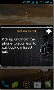 call android missed call respond to unattended calls using motion
