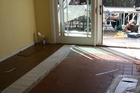 Floating Laminate Floor Over Carpet Yay Cork Flooring Going Over Bad Kitchen Tile Brand Hang
