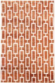Hand Knotted Rugs India Modern Geometric Pattern Rug J42372