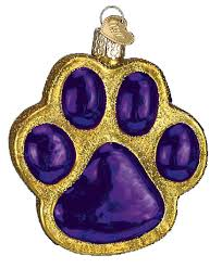 world ornaments paw print 12291