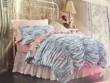 simply shabby chic ruched cabbage rose blue floral duvet cover