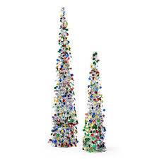 collapsible christmas tree collapsible silver tinsel trees 2 pack at big lots christmas