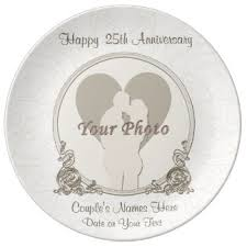 personalized anniversary plate 25th anniversary plates zazzle