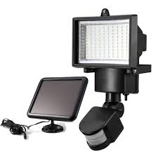 100led Solar Powered Pir Motion Sensor Light Lamp With Solar Panel