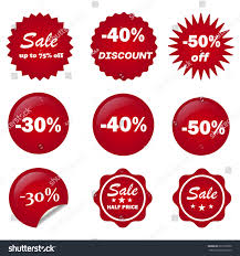 ribbon sale color vector stock vector 626178350