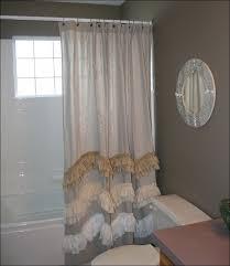 Gray Ruffle Shower Curtain Bathrooms Marvelous Double Sided Farmhouse Sink Black Ruffle